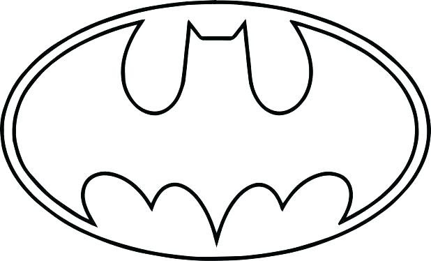 618x374 Batman Logo Coloring Pages Symbol Page Gallery For