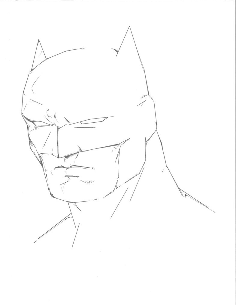 786x1017 Batman Pencil Drawing