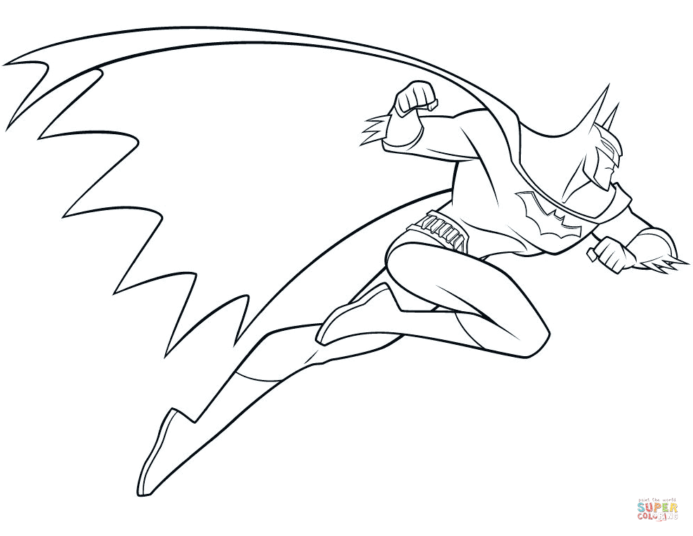 986x763 Batman Coloring Pages Free