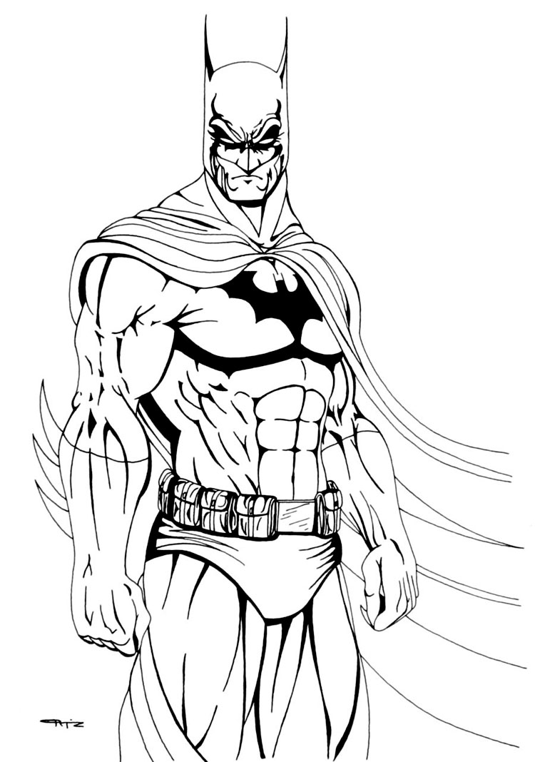 750x1068 Inspirational Design Batman Outline Printable Coloring Pages For