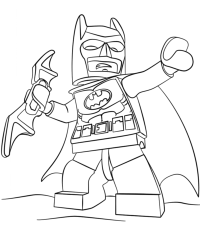 400x480 Lego Batman Coloring Page Free Printable Pages
