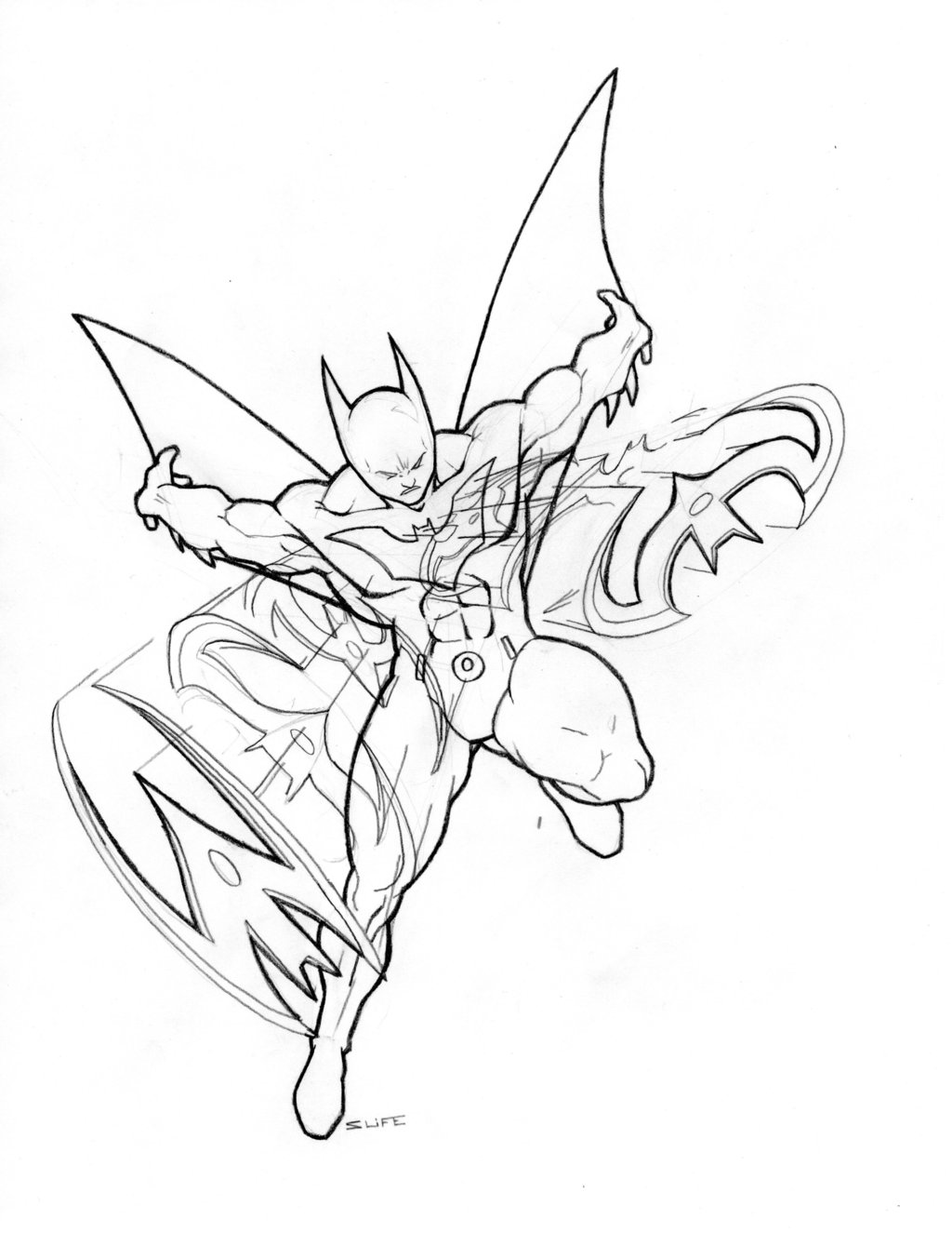 Batman Outline Drawing at GetDrawings.com | Free for personal use ...