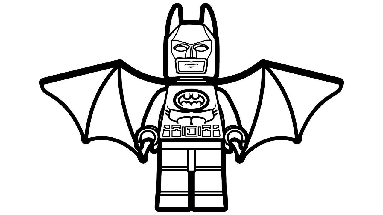 1280x720 BATMAN Coloring Pages 69 Free Superheroes Sheets