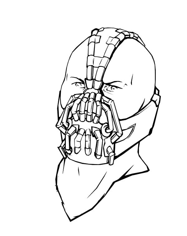 600x758 Bane Batman Special Breathing Mask Coloring Pages Best Place