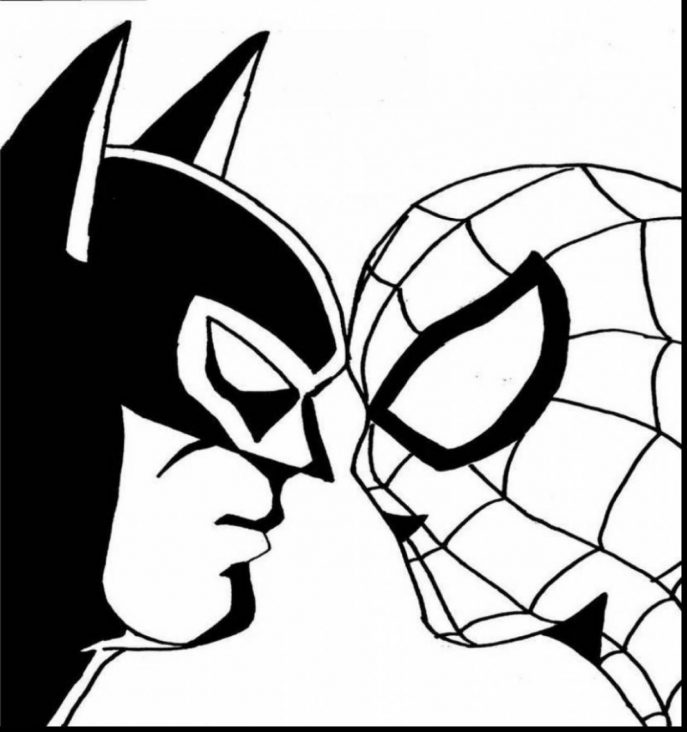 687x732 Coloring Pages Beautiful Batman Logo Coloring Pages 7 Symbol