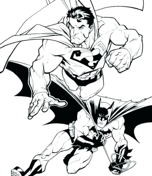 588x683 Superman Coloring Page Pages And Batman