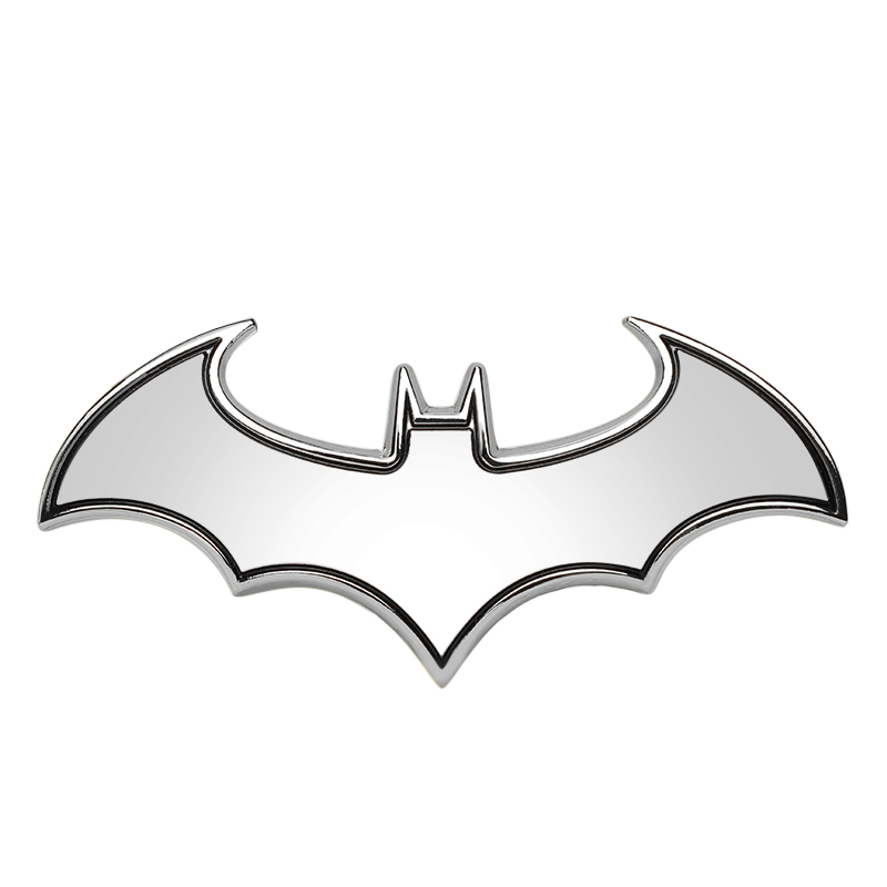 800x800 2018 3d Car Stickers Cool Bat Metal Auto Logo Batman Badge Emblem