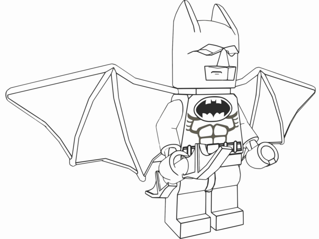 1024x768 Batman Coloring Pages Pdf