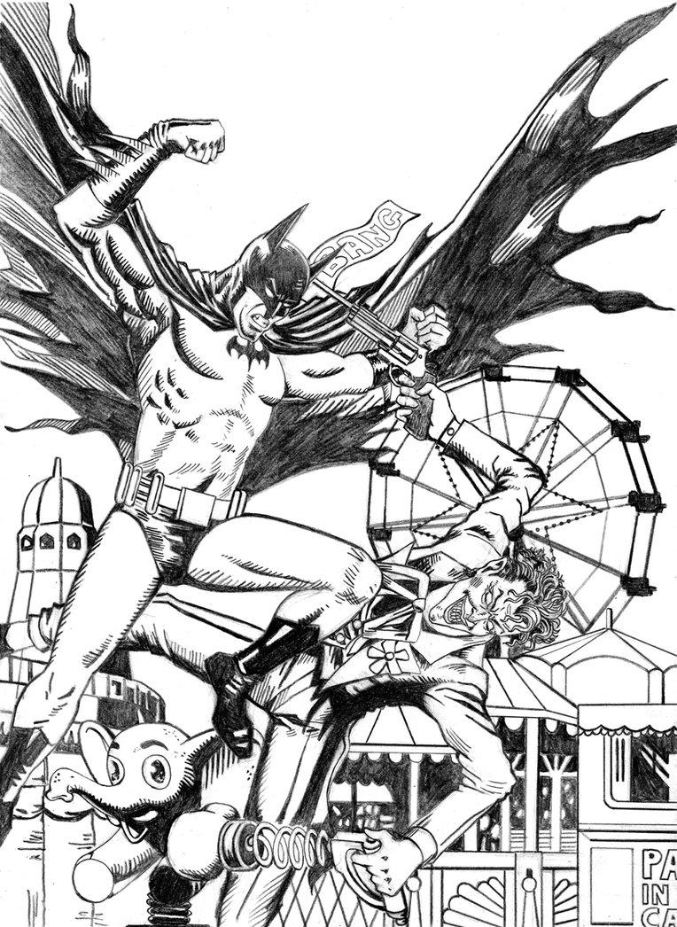 764x1046 Batman Vs Joker Drawing Batman Vs Joker 5 19 2013myconius