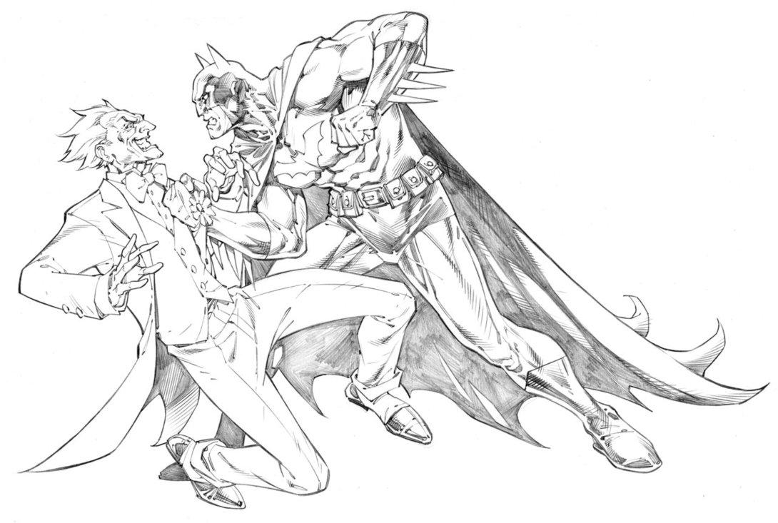 1090x733 Batman And Joker By Randygreen