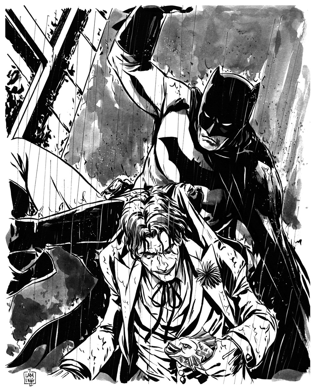 1024x1268 Batman And The Joker Commission By Marclaming
