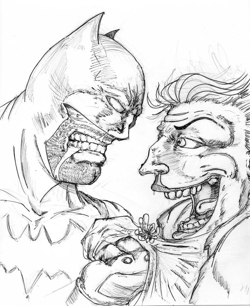 808x989 Batman Vs Joker By Horrorhotel