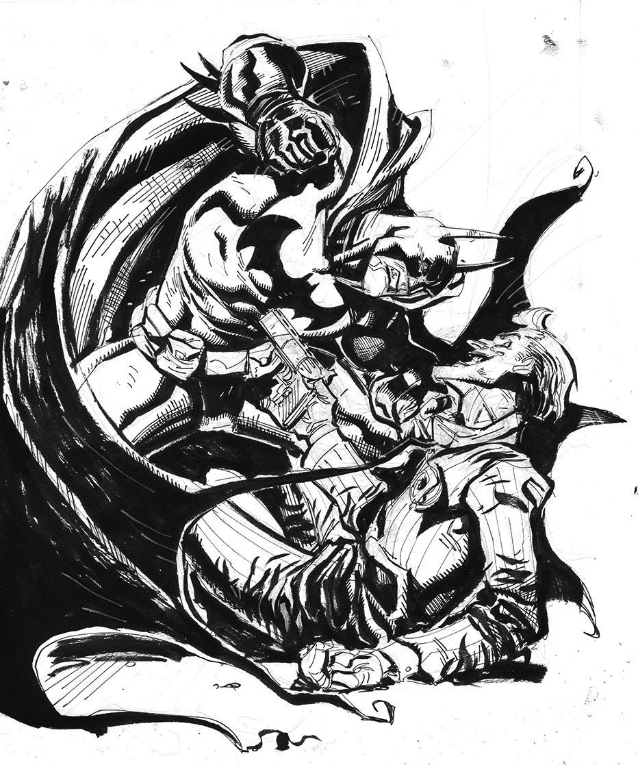 932x1117 Batman Vs. Joker Sketch Inked! Purchase Info Available