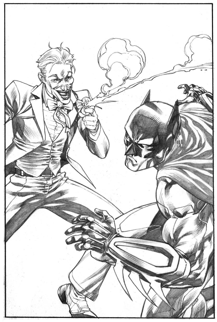 900x1336 Daily Sketch Batman Vs. Joker . Robert Atkins Art