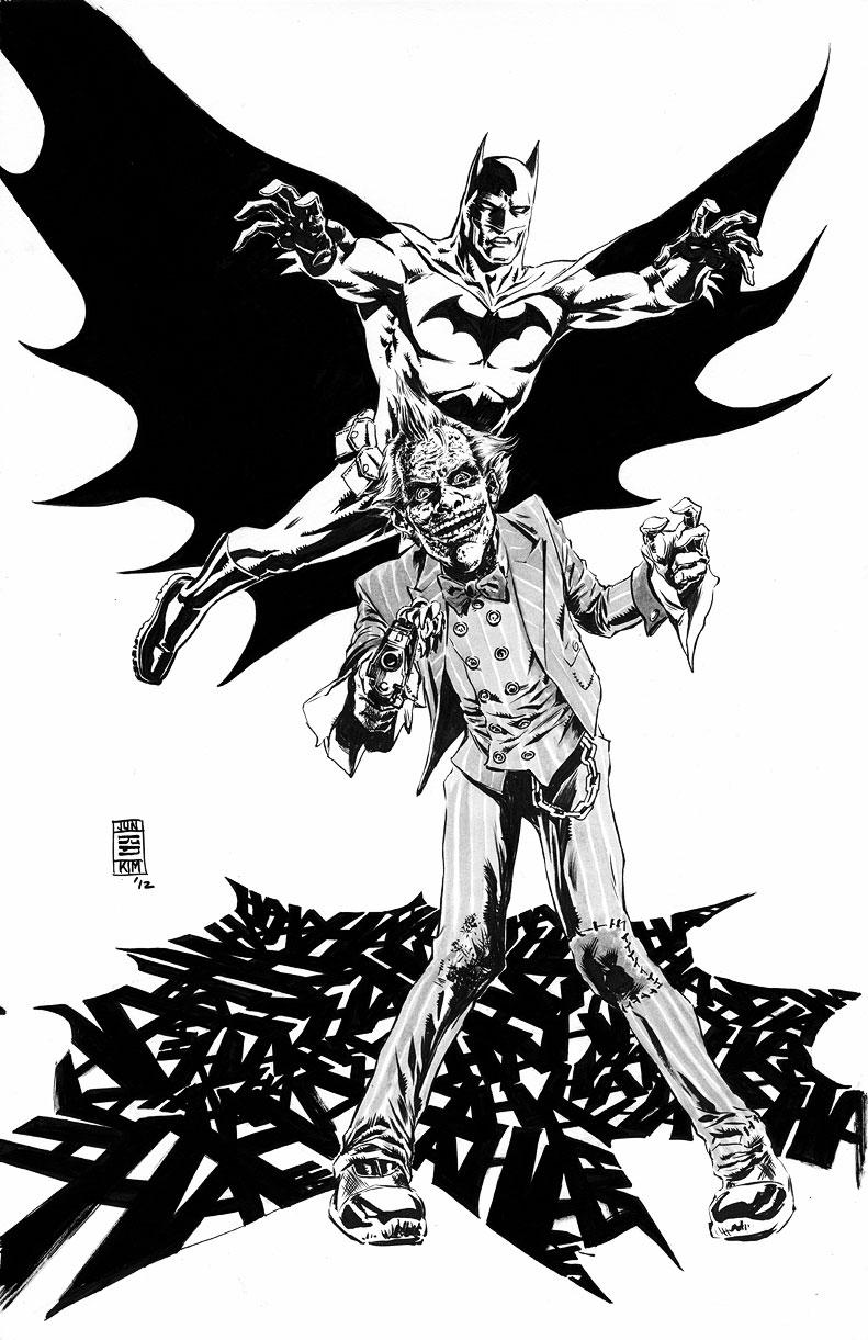 791x1221 Hahahahahaha! Dc Batman Vs Joker Jun Bob Kim Draws Comic Art