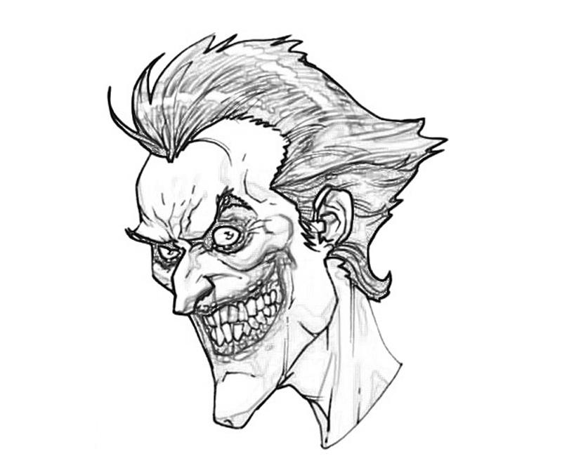 800x667 Joker Arkham City Coloring Pages Joker Face Coloring Pages