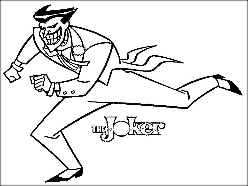 1024x768 Printable Batman Joker Coloring Pages