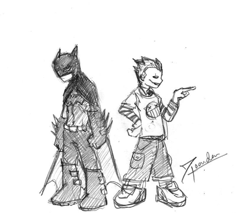 800x722 Batman Nd Joker Chibi By Bloodcult