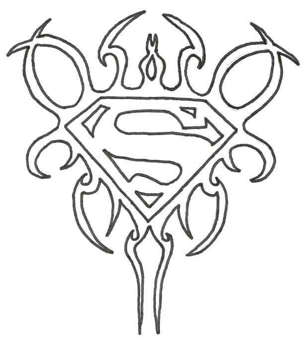 618x699 Batman Vs Superman Logo Coloring Pages To Snazzy Page How Draw