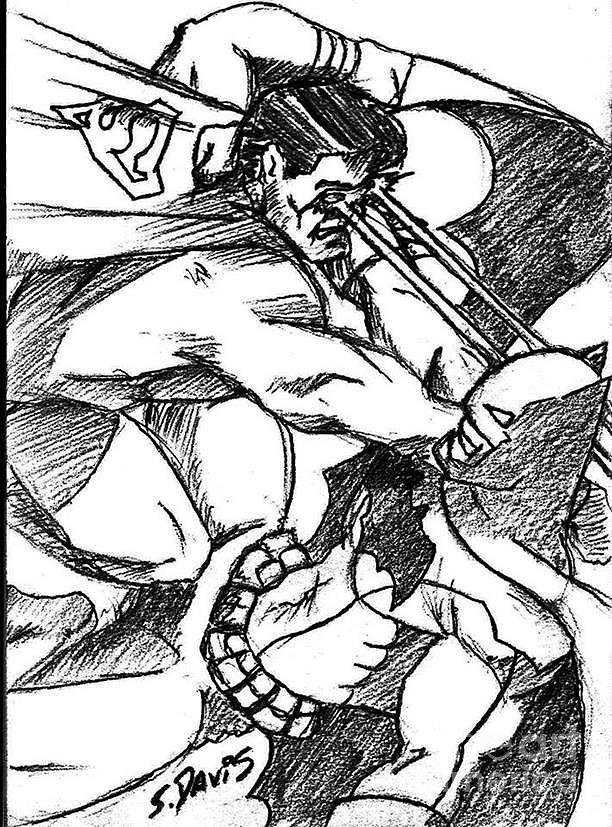 612x827 Batman Vs. Superman Drawing By Scott Davis