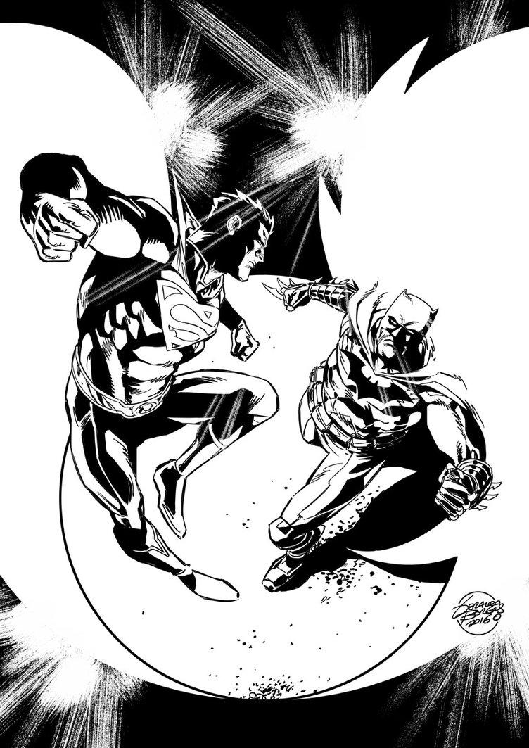 752x1063 Batman Vs Superman Black And White By Geraldohsborges
