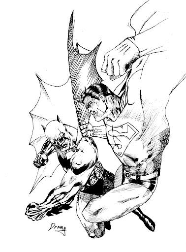 378x512 Batman Vs. Superman By Draugwenka