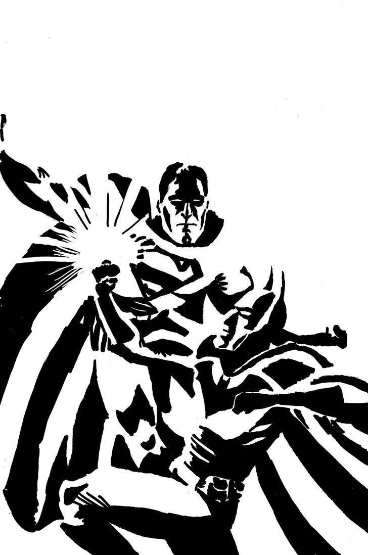 728x1098 Batman Vs. Superman In Ink By Spearhafoc