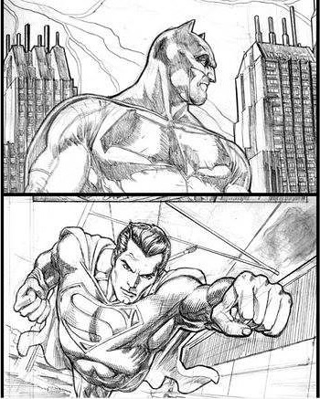 350x437 November 23 2015 Artwork From Batman V Superman Prequel Comic