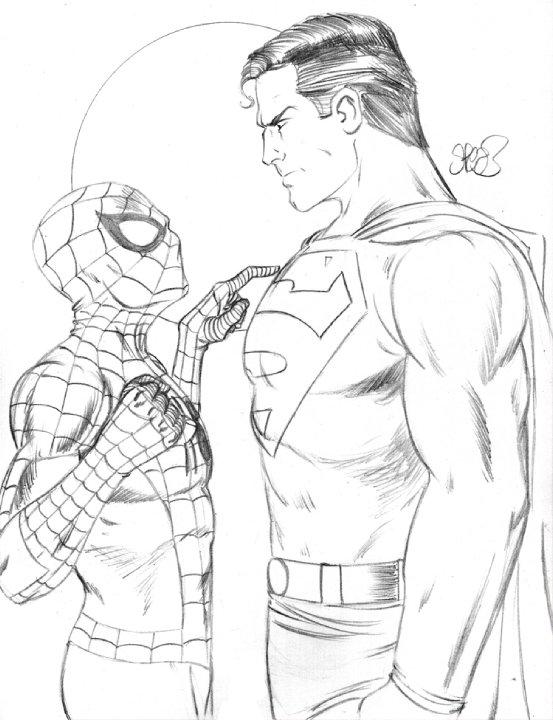 553x720 Spiderman Vs Superman Id By Markman777