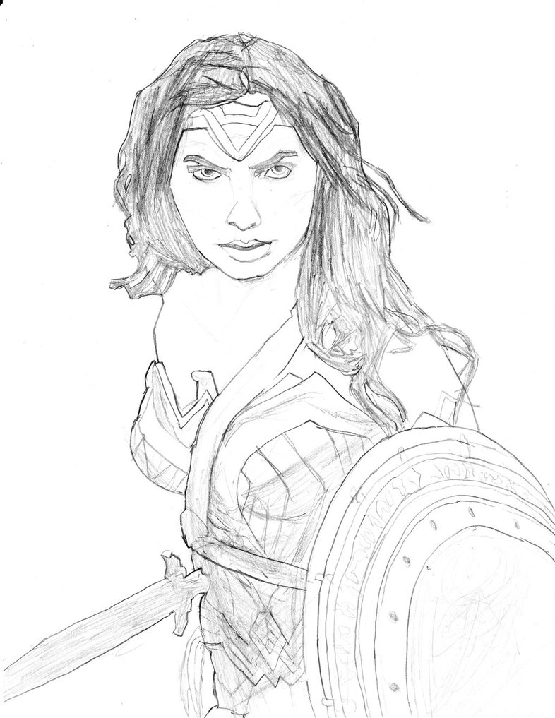 786x1017 Wonder Woman (Batman V Superman) By Homer311