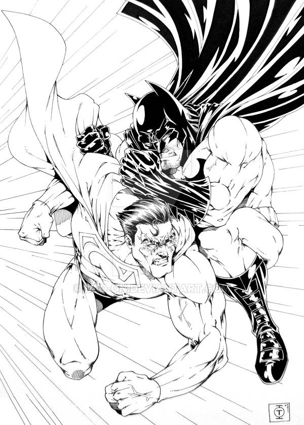 600x840 Batman Vs Superman By Tom Ross By Lad