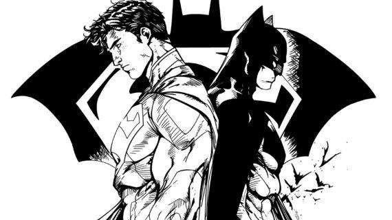 570x320 Batman And Superman Drawing Batman Vs Superman Drawing