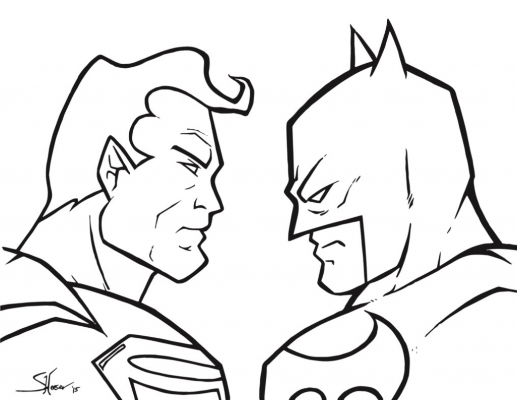 1024x792 Batman Superman Sketches Superman V Batman Sketchshane Derek