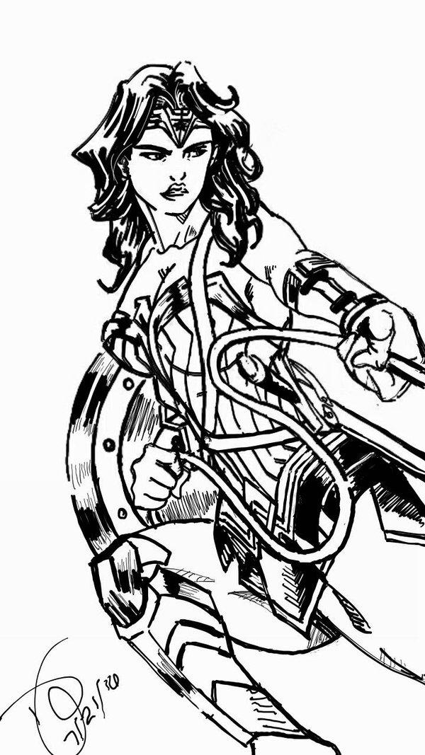600x1067 Batman V Superman Wonder Woman By Chaoticjustice88