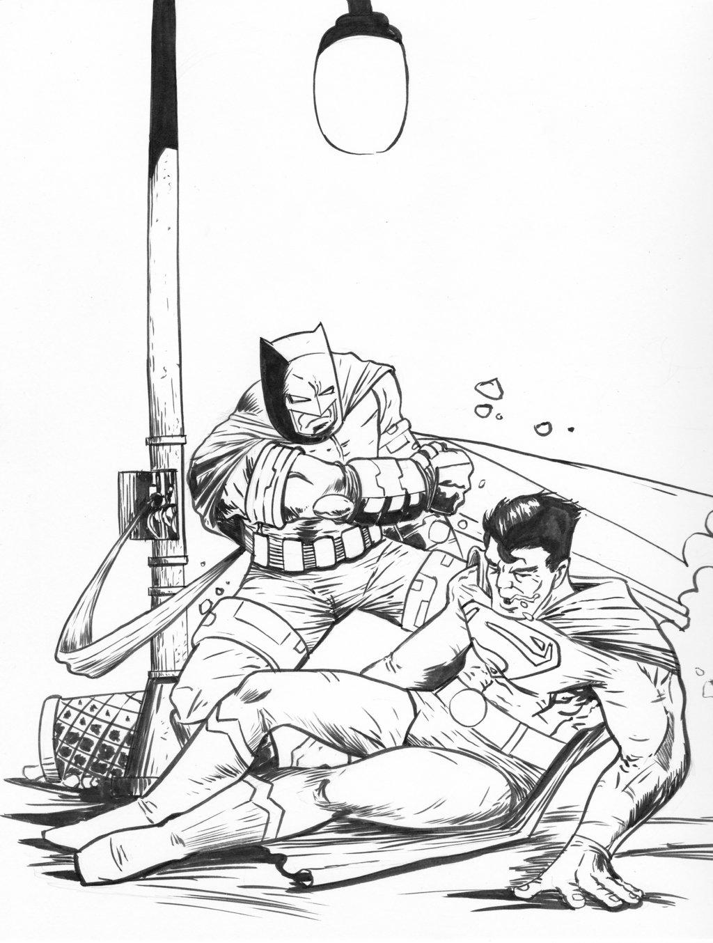 1024x1354 Batman Vs Superman Dark Knight Returns By Theexodus97