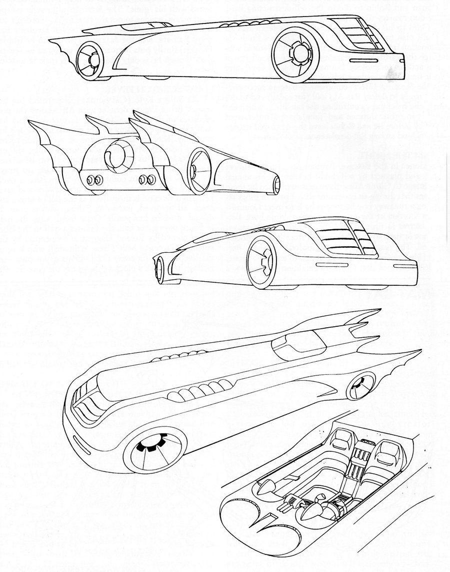 900x1143 Batmobile Cartoon Drawings Model Batmobile