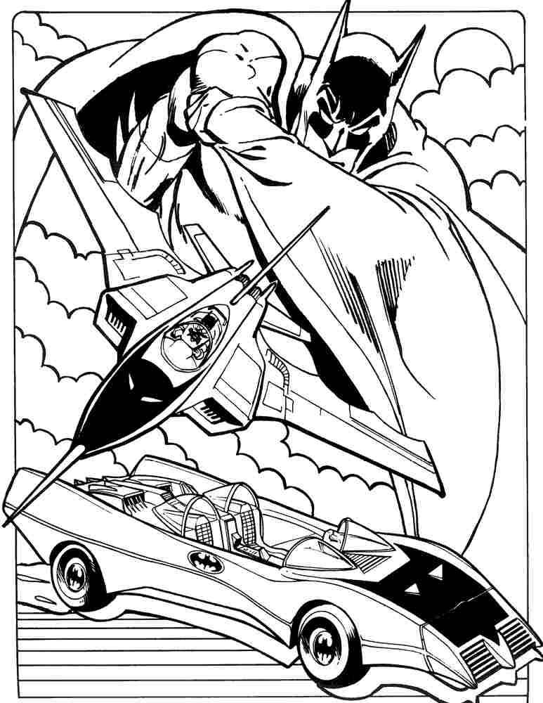 773x1000 Batmobile Coloring Pages Superhero Batman