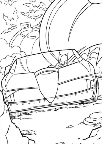 343x480 Batmobile Coloring Page Free Printable Coloring Pages