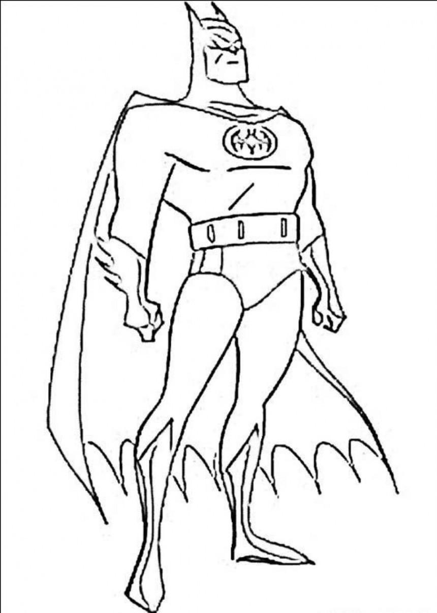 860x1206 Free Online Printable Batman Coloring Pages