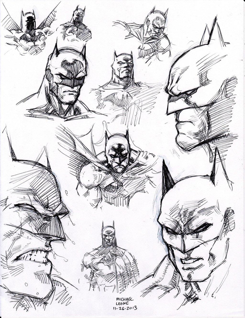 1024x1327 Jim Lee Batman Studies 11 26 2013 By Myconius
