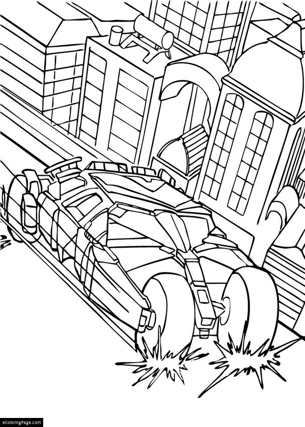 607x850 Batmobile Printable Coloring Pages
