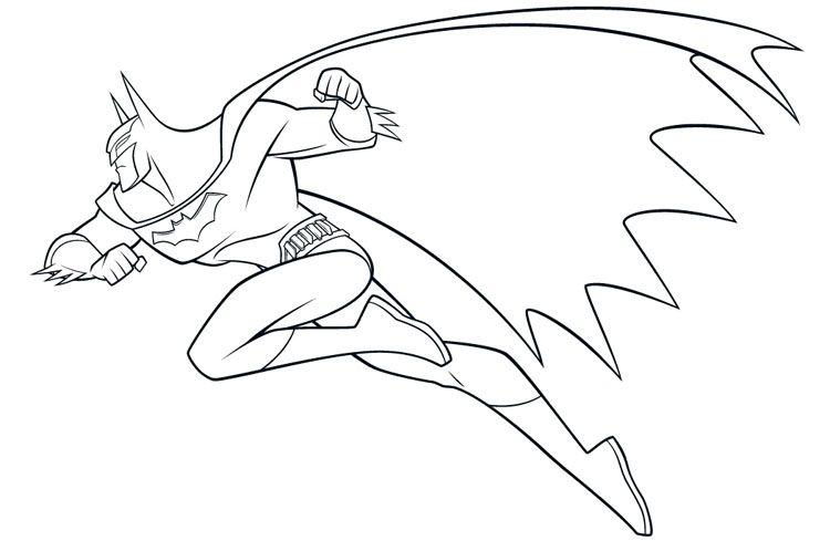750x489 Simple Batman Coloring Pages Dc Comic Book Coloring Pages