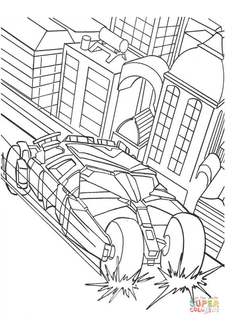 736x1043 Batman39s Car Coloring Page Free Printable Pages