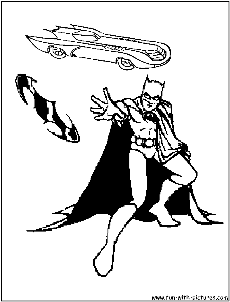 800x1050 Batman Batmobile Coloring Pages