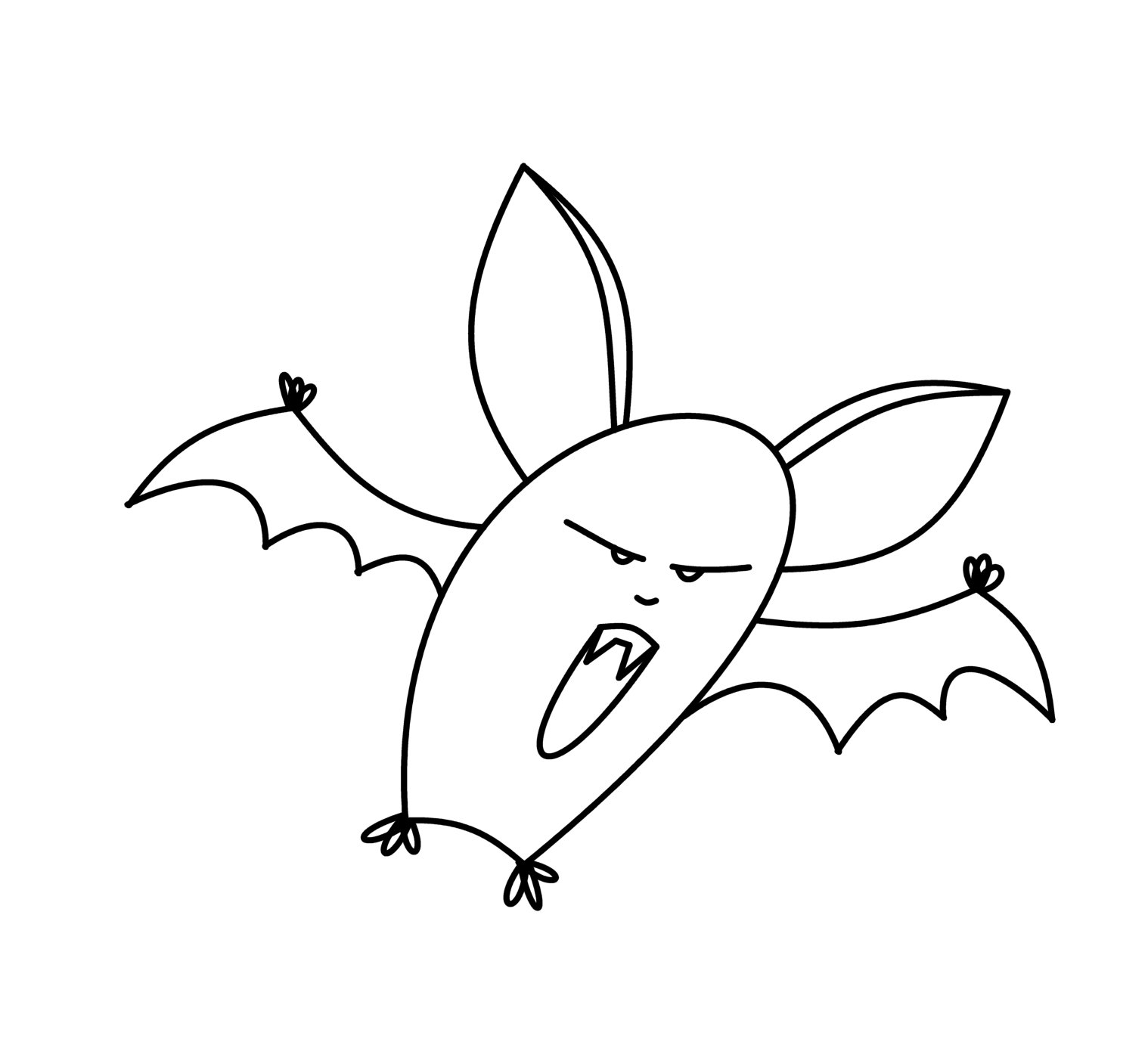1518x1374 How To Draw Cartoons Vampire Bat