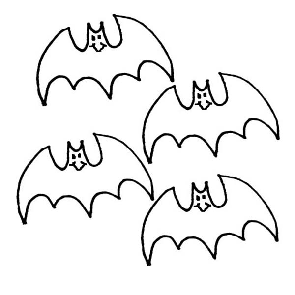600x600 Kids Drawing Bats Coloring Page Color Luna
