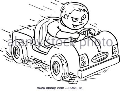 424x320 Electric Car Drawing Stock Photo 69158343