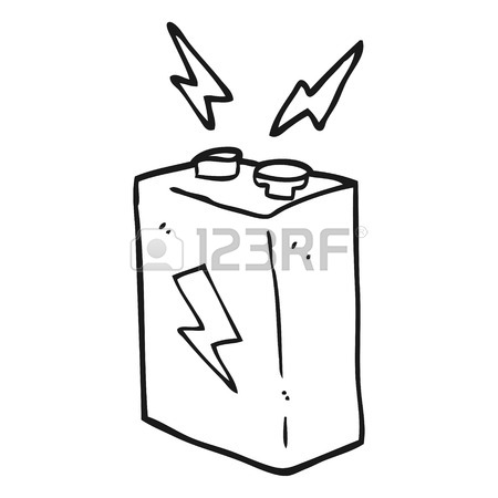 450x450 Freehand Drawn Cartoon Batteries Royalty Free Cliparts, Vectors