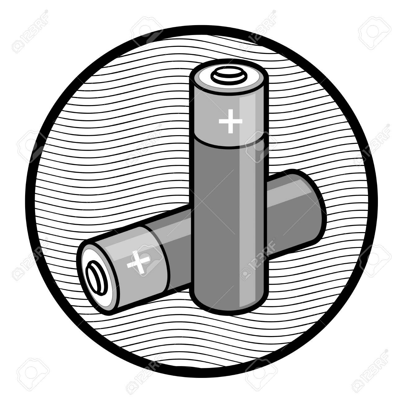1300x1300 Two Batteries Sign Royalty Free Cliparts, Vectors, And Stock