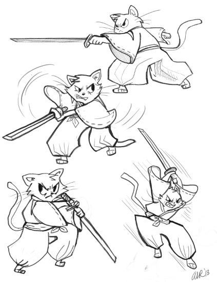423x548 Battle Poses I Wildly Artistic